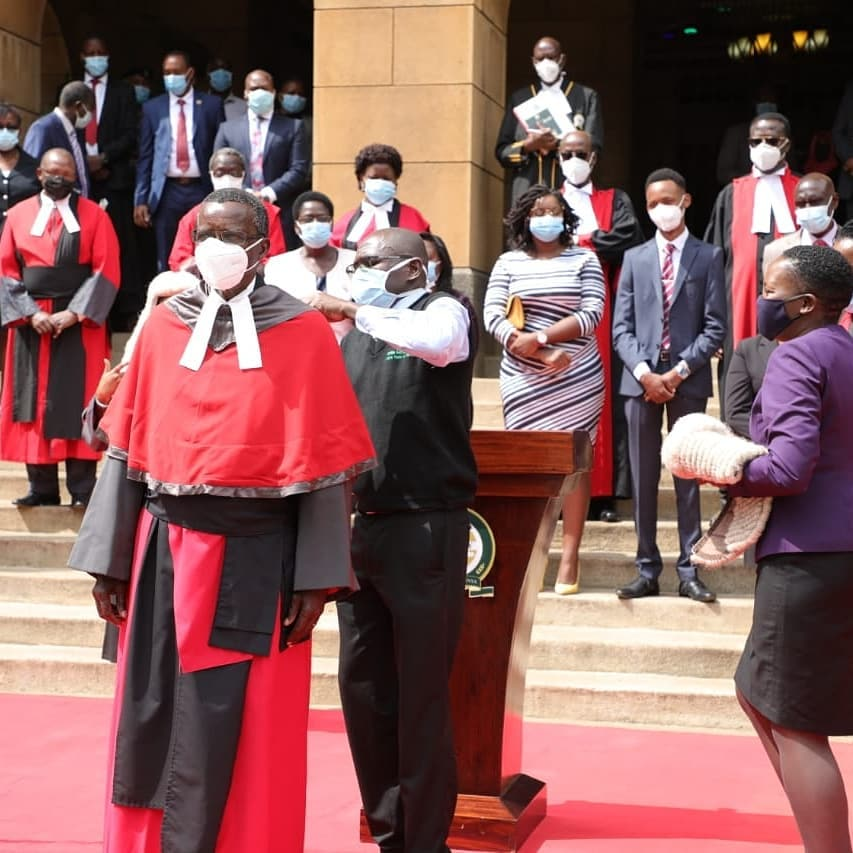 udges, magistrates, Judiciary staff and other stakeholders bid farewell to retired Chief Justice David Maraga