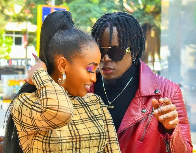 Willy Paul and one of his lady friends: Photo taken from one of his music videos.