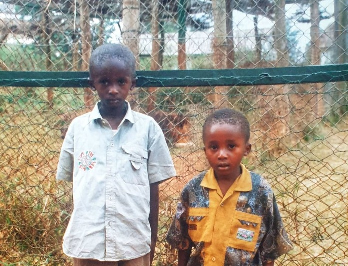 Njugush and his brother 20 years ago. Photo credit: Instagram/blessednjugush.